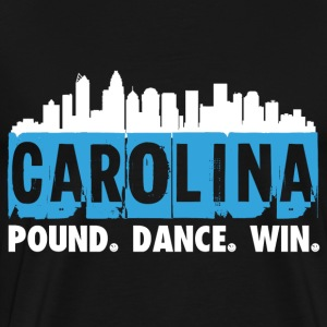 Carolina residents - Pound, dance, win - Men's Premium T-Shirt