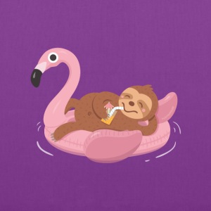 Sloth on Flamingo Float Bags & backpacks - Tote Bag