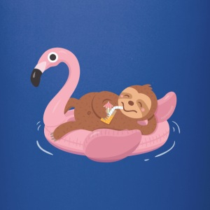 Sloth on Flamingo Float Mugs & Drinkware - Full Color Mug