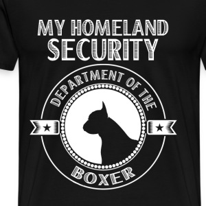 Department of the Boxer - My homeland security - Men's Premium T-Shirt