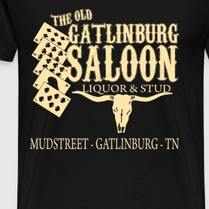 Curiosities of London - The old Gatlinburg saloon - Men's Premium T-Shirt