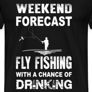 Fly fishing - With a chance of drinking - Men's Premium T-Shirt