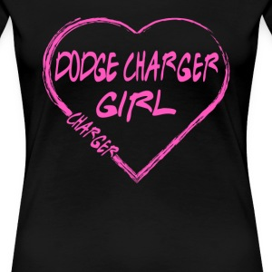 Dodge charger girl - Pink heart lovely T-shirt - Women's Premium T-Shirt