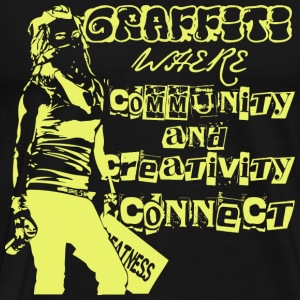 Graffiti art - Community and creativity connect - Men's Premium T-Shirt
