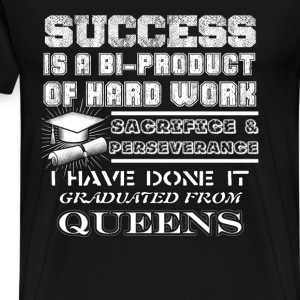 Graduated from Queens - Success is a bi-product - Men's Premium T-Shirt