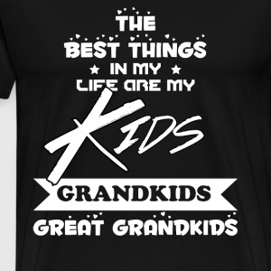Grandparents - The best things in my life are kids - Men's Premium T-Shirt