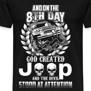 God created jeep - The devil stood at attention - Men's Premium T-Shirt