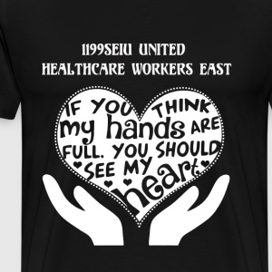 Healthcare workers east - You should see my heart - Men's Premium T-Shirt