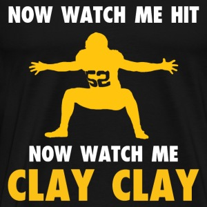 Hockey - Now watch me hit Now watch me Clay clay - Men's Premium T-Shirt