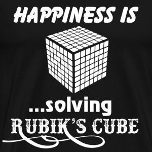Happiness is solving Rubik's cube - Men's Premium T-Shirt