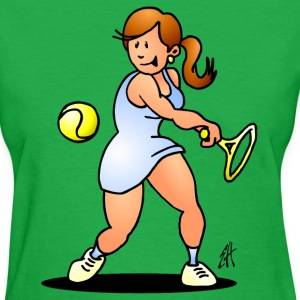 Tennis girl hitting a backhand T-Shirts - Women's T-Shirt