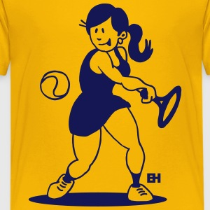 Tennis girl hitting a backhand Kids' Shirts - Kids' Premium T-Shirt