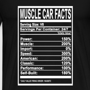 Muscle car facts - Speed, Muscle, American - Men's Premium T-Shirt