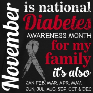 November - National diabetes awareness month - Men's Premium T-Shirt