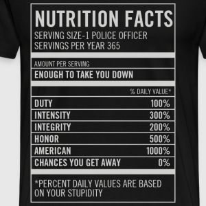 Police officer - American, honor, integrity - Men's Premium T-Shirt