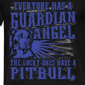 Pitbull - Everyone has a guardian angel - Men's Premium T-Shirt