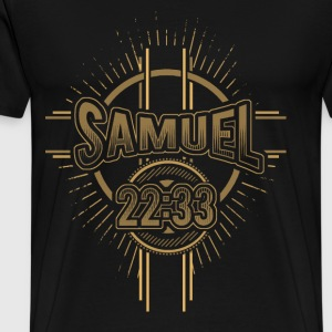 Samuel 22:33 - God is my strength and power - Men's Premium T-Shirt