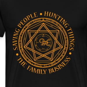 Scorpios - Saving people, the family business - Men's Premium T-Shirt
