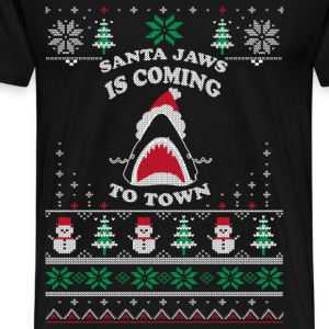 Shark lover - Santa Jaws is coming to town - Men's Premium T-Shirt