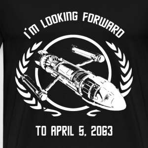 - I'm looking forward to April 5, 2063 - Men's Premium T-Shirt