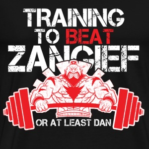 Street fighter - Training to beat Zangief - Men's Premium T-Shirt