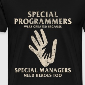 Special programmers - Special managers need heroes - Men's Premium T-Shirt