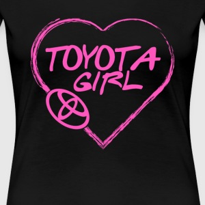 Toyota girl - Pink heart lovely T-shirt - Women's Premium T-Shirt