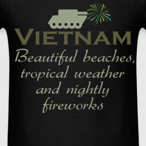 Vietnam Beautiful beaches, tropical weather and ni - Men's T-Shirt