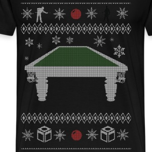 Ugly Christmas sweater for Billiards snooker - Men's Premium T-Shirt
