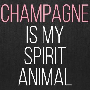 Champagne Spirit Animal Funny Quote Bags & backpacks - Tote Bag