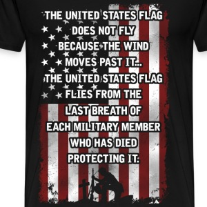 United States flag Last breath of military member - Men's Premium T-Shirt