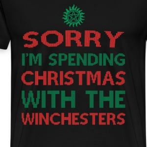 Winchesters fan - Sorry I'm spending Christmas - Men's Premium T-Shirt