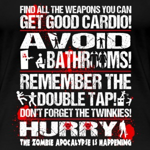 Zombie Twinkies - Find all the weapons you can - Women's Premium T-Shirt