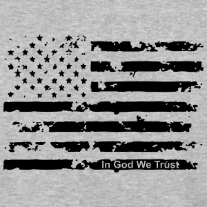 American Flag t shirt with In God We Trust - Baseball T-Shirt