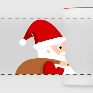 Santa Claus Cartoon Mugs & Drinkware - Panoramic Mug