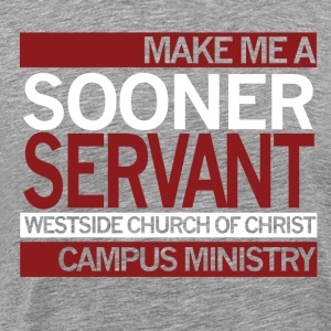 Sooner Servant t-shirt Grey - Men's Premium T-Shirt