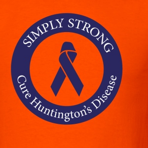 Siimply Strong circle - Cure Huntington's Disease - Men's T-Shirt