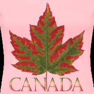 Design ~ Women's Canada Maple Leaf T-shirt Canada Souvenir Shirts