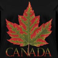 Design ~ Women's Canada Maple Leaf T-shirt Plus Size Canada Shirts