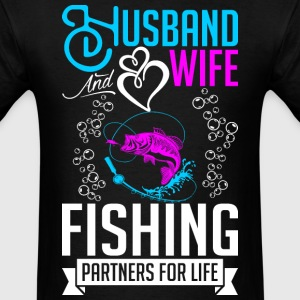 Husband And Wife Fishing Partners For Life T-Shirts - Men's T-Shirt