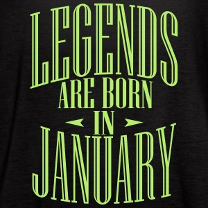 LEGENDS ARE BORN IN JANUARY - Women's Flowy Tank Top by Bella