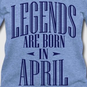 LEGENDS ARE BORN IN APRIL - Women's Wideneck Sweatshirt