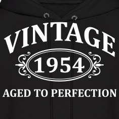 Vintage 1954 Aged to Perfection Hoodies