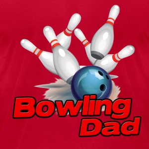 Bowling Dad (S) T-Shirts - Men's T-Shirt by American Apparel