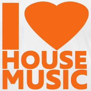 I Love House Music T-Shirts - Men's T-Shirt by American Apparel