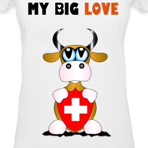 Big Love Switzerland - Women's V-Neck T-Shirt