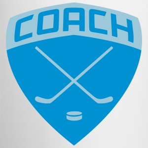 Hockey Coach Shield Bottles & Mugs - Coffee/Tea Mug