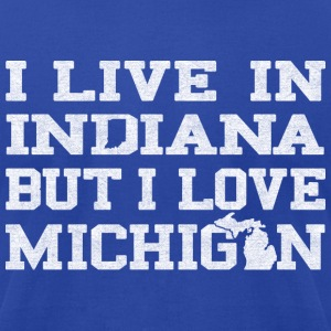Live Indiana Love Michigan  T-Shirts - Men's T-Shirt by American Apparel
