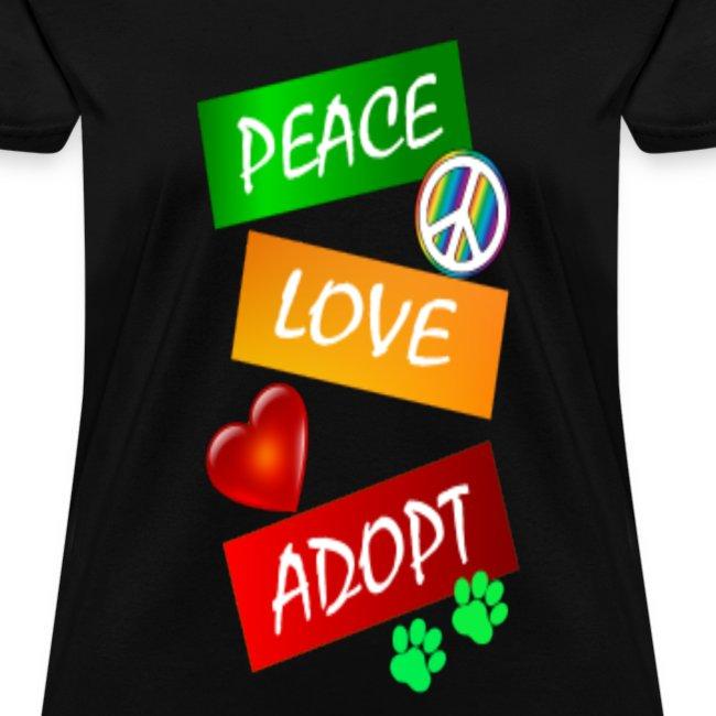 PEACE LOVE ADOPT