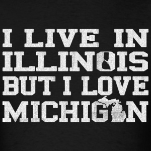 live_illinois_love_michigan T-Shirts - Men's T-Shirt